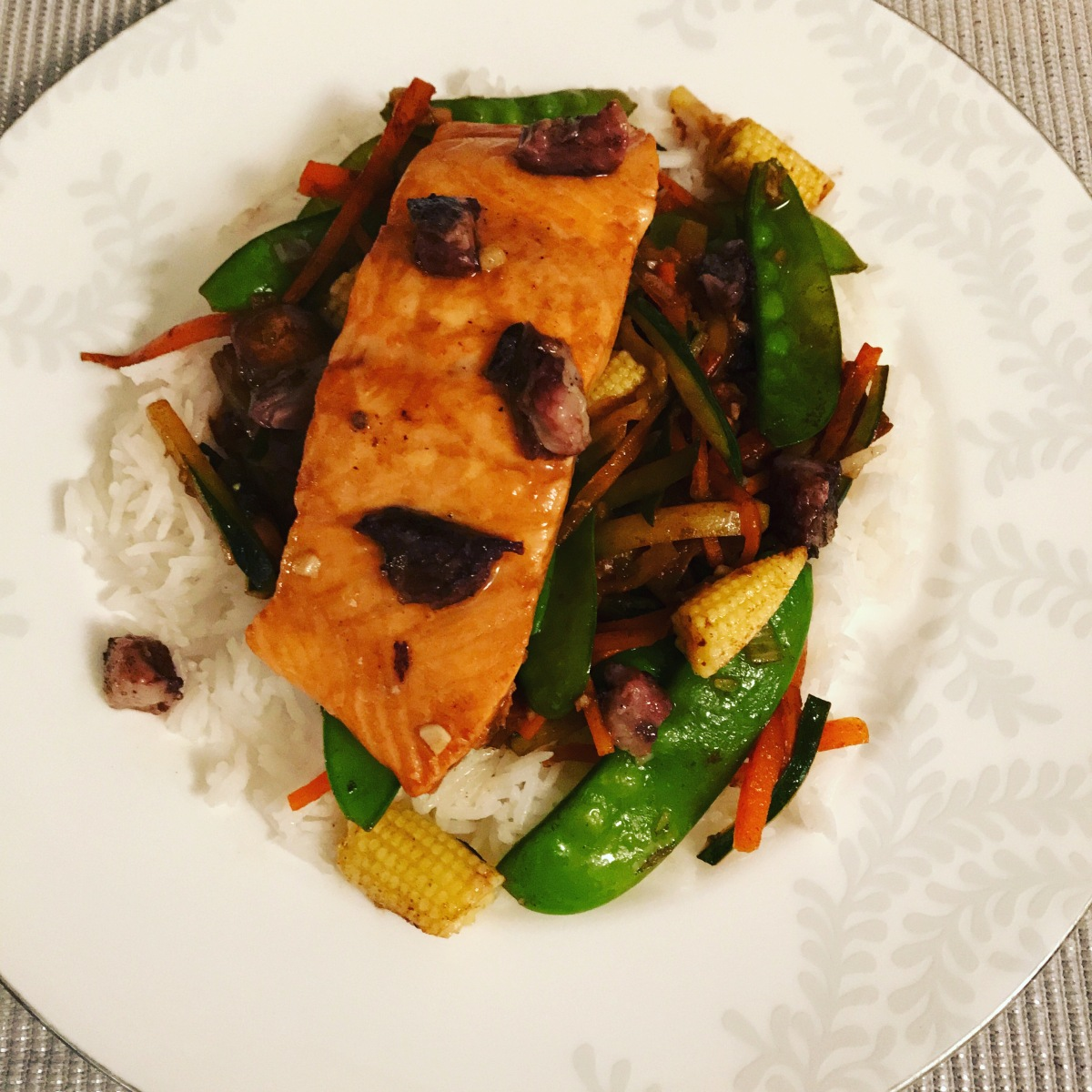 Marinated oriental salmon