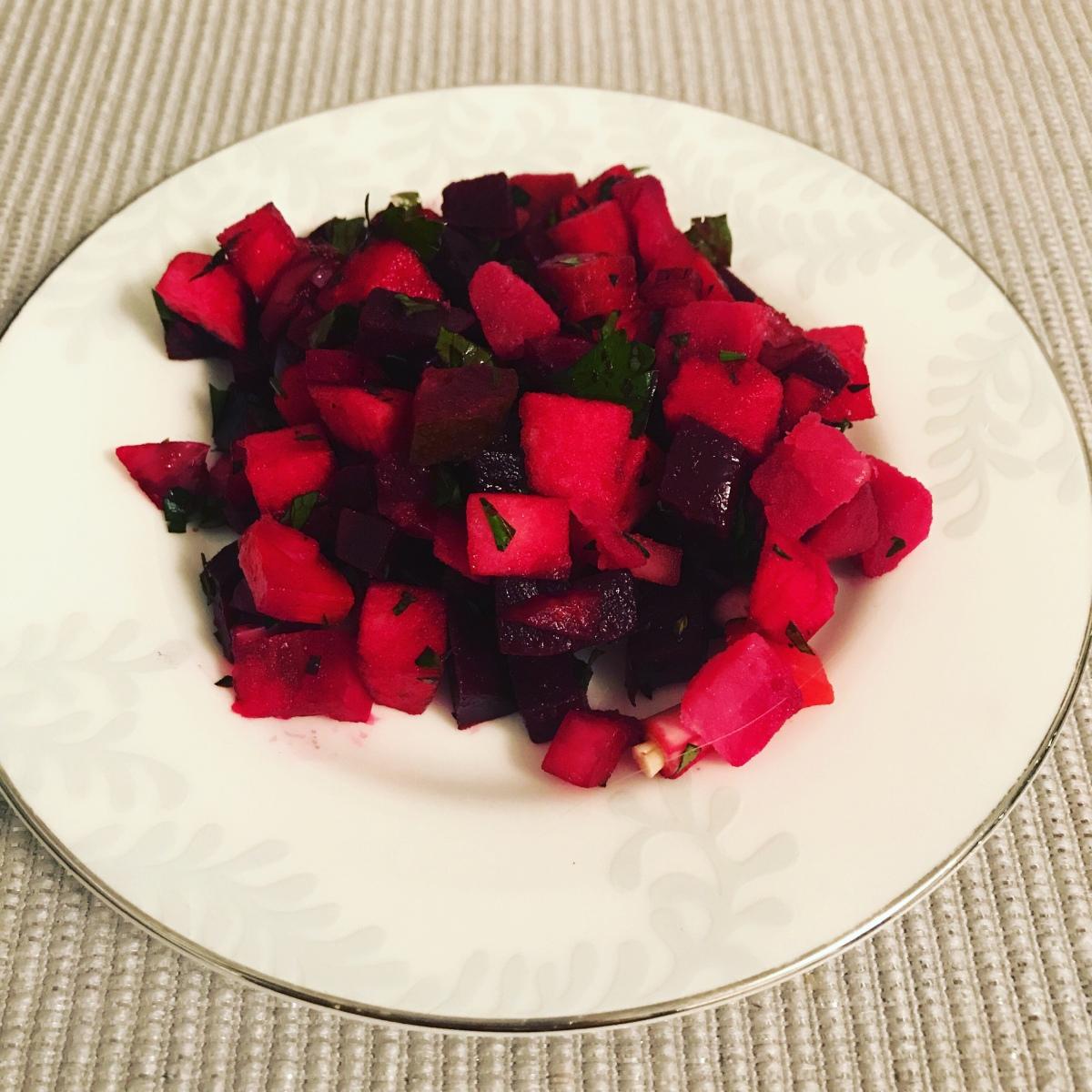 Rosolli (beetroot salad)