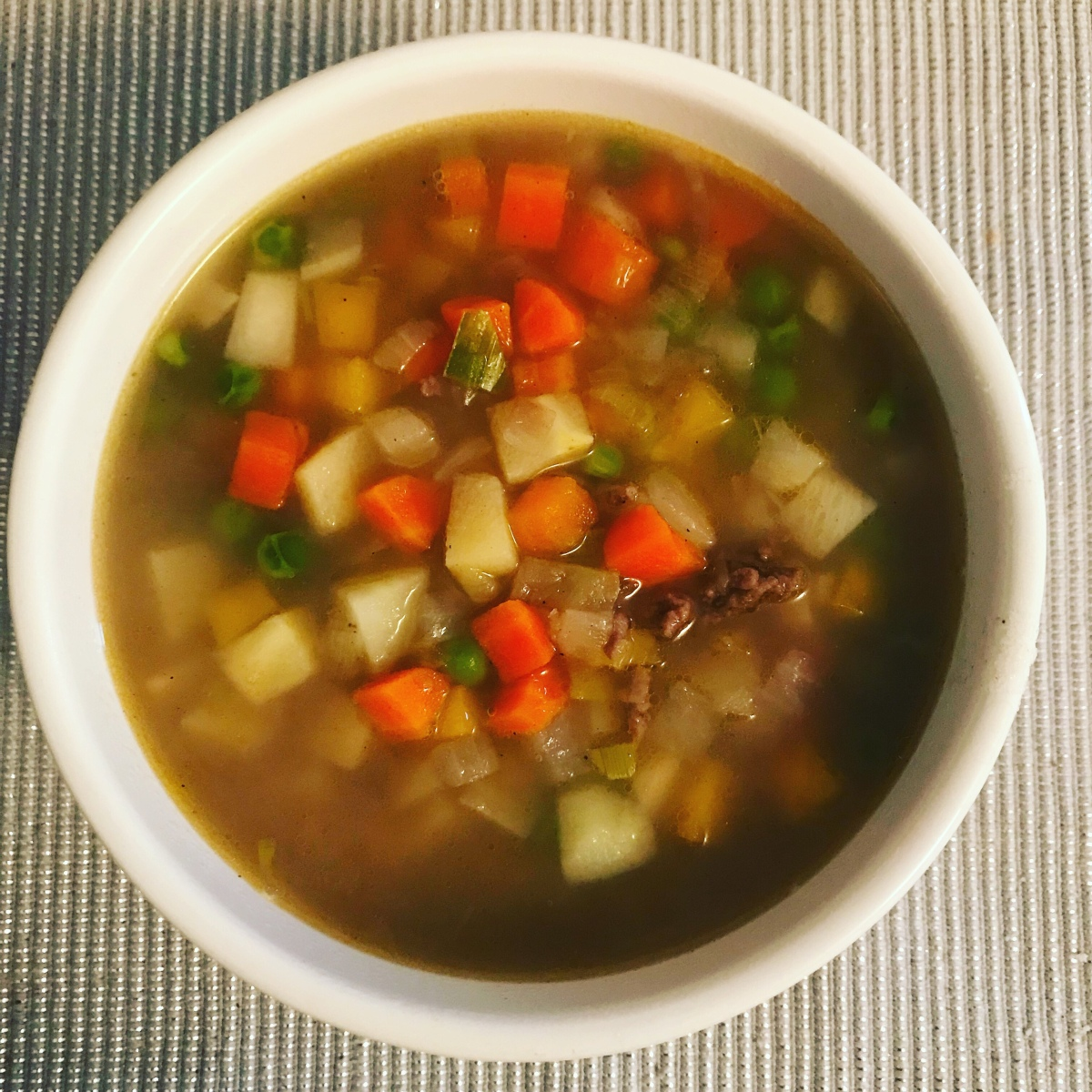 Mince beef soup