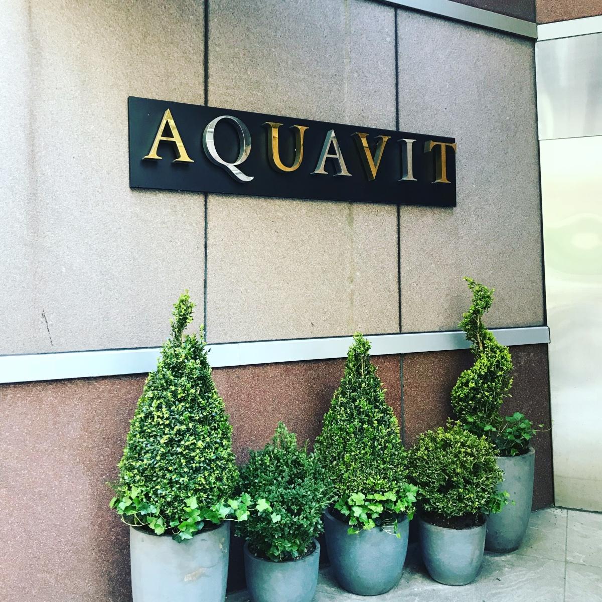 Restaurant review: Aquavit,NYC
