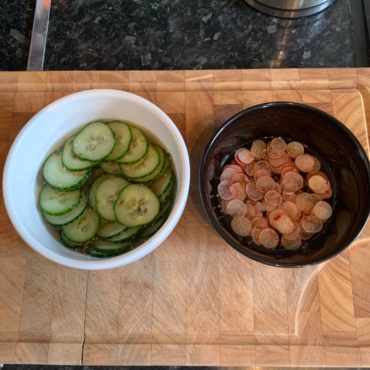 Scandinavian pickled cucumber